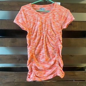 Athleta scrunched top (stripped)